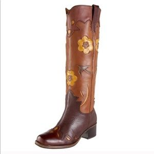 Lucky Brand Holly leather Western cowboy boot